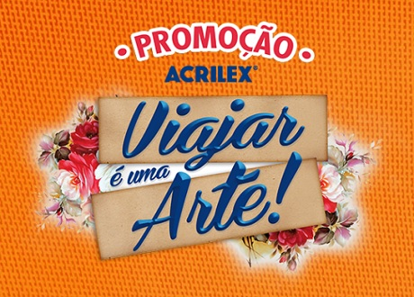 Promoção Acrilex Viajar é uma Arte