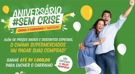 Promoção Aniversário sem Crise Chama Supermercados
