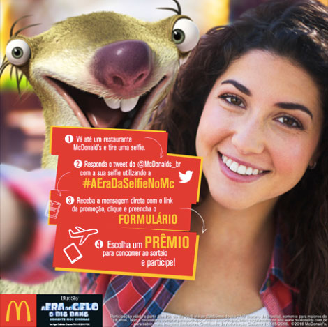 Promoção A era da Selfie no McDonald's
