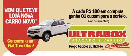 Promoção Ultrabox Vem que tem loja nova e carro novo