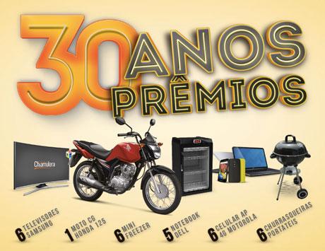 Promoção Bebidas Chiamulera 30 Anos 30 Prêmios