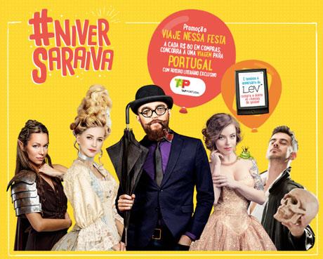 Promoção Aniversário Saraiva Viaje Nesta Festa
