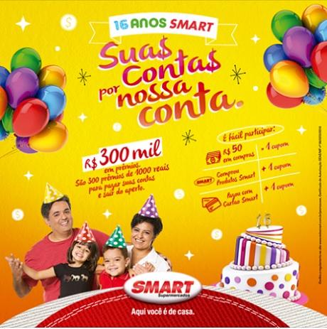 Promoção Aniversário 16 Anos Smart Supermercados