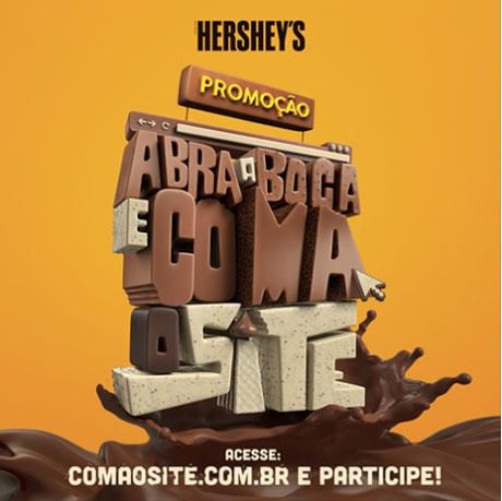 Promoção Hershey's Abra a Boca e Coma o Site