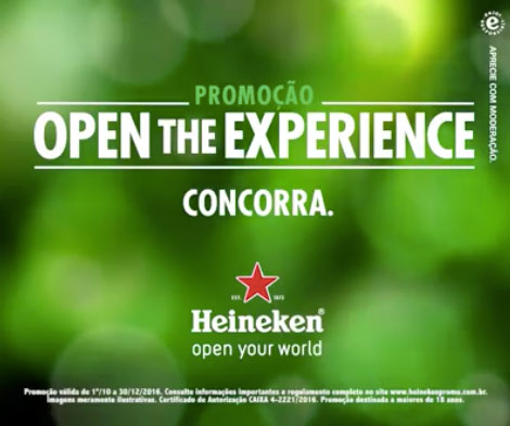 Promoção Open The Experience Heineken
