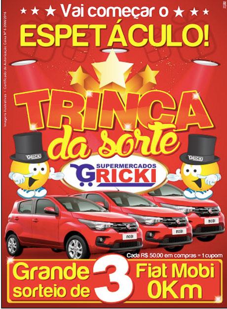 Promoção Supermercados Gricki Trinca da Sorte