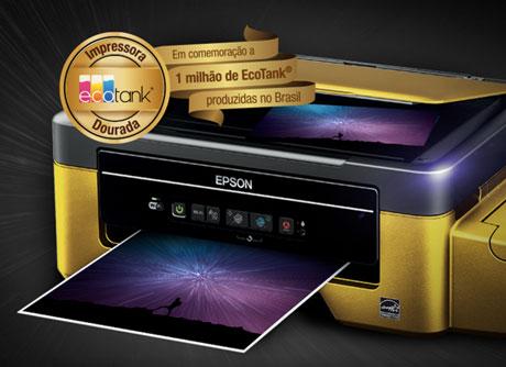 Promoção Epson Encontre a sua Impressora Dourada