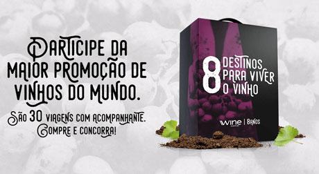 Promoção Wine 8 Destinos para Viver o Vinho