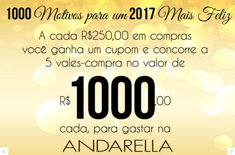 Promoção Andarella 1000 motivos para um 2017 mais Feliz