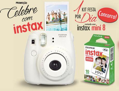 Promoção Celebre com Instax Fujifilm