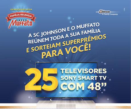 Promoção Super  Muffato e SC Johnson Família Reunida