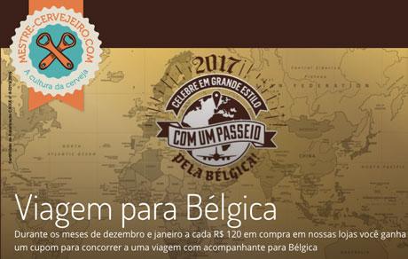 Promoção Mestre Cervejeiro Celebre em grande estilo com um passeio pela Bélgica