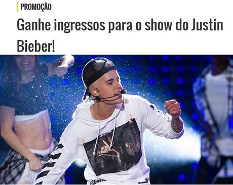 Promoção Mix FM Ganhe ingressos para o show do Justin Bieber