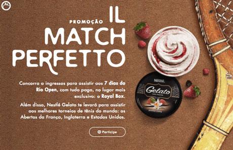 Promoção Nestlé Gelato 1L Match Perfeito