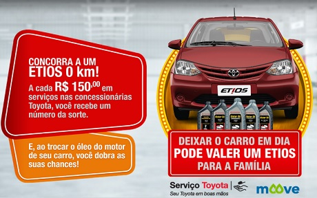 Promoção Toyota Deixar o Carro em Dia Pode Valer um Etios