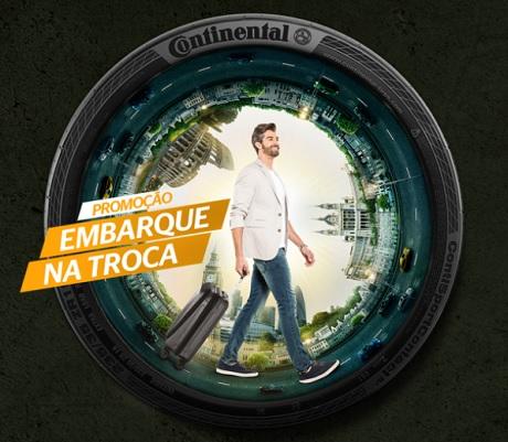 Promoção Continental Embarque na Troca