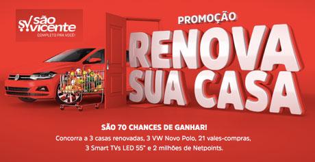 Promoção Supermercados São Vicente Renova Sua Casa
