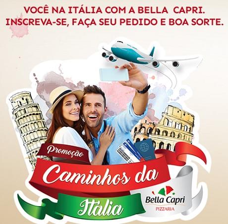 Promoção Bella Capri Caminhos da Itália