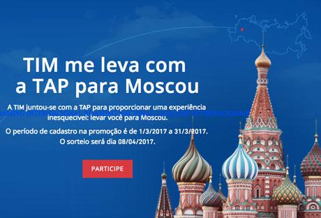 Promoção TIM me leva com a TAP para Moscou