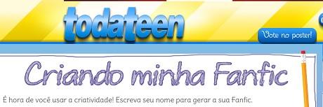 Promoção Revista Todateen Ler é TDB Fazendo uma Fanfic