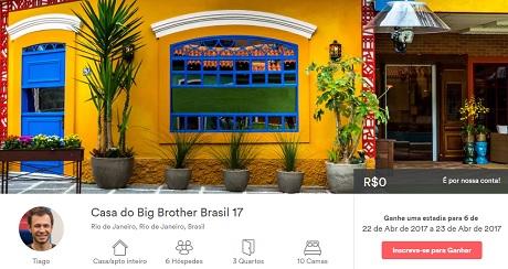 Promoção Airbnb Viva Lá Big Brother Brasil 17