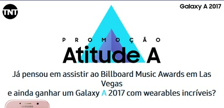 Promoção TNT e Samsung Atitude A