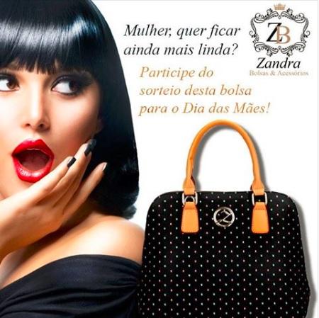 Promoção Zandra Bolsas Concorra a essa linda bolsa Zeti
