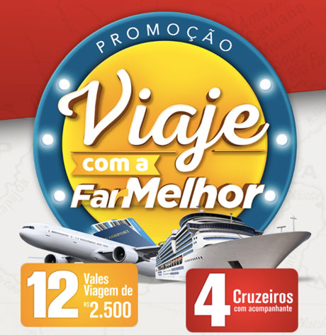 Promoção Viaje com a FarMelhor