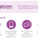 Promoção Magazine Luiza Recarga Premiada