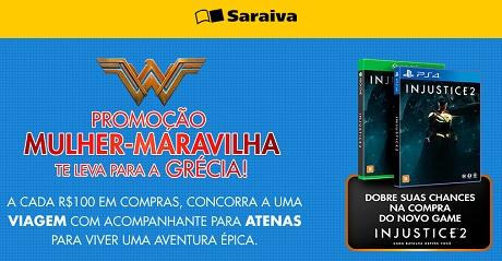 Promoção Warner e Saraiva Mulher Maravilha Te Leva Para a Grécia