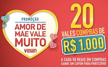 Promoção Supermercado Veran Amor de Mãe Vale Muito