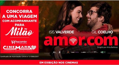 Promoção Cinemark e Hotel Urbano Amor.com Te Leva Para Milão