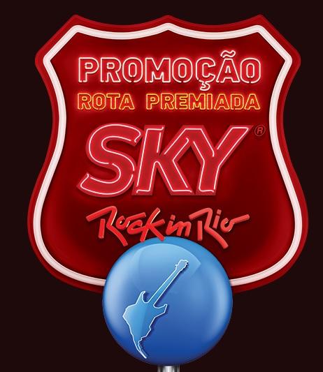 Promoção Rota Premiada Sky Rock in Rio
