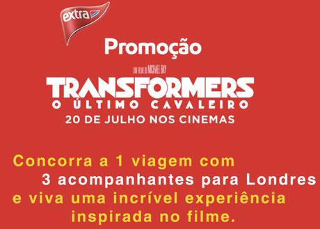 Promoção Paramounte Hipermercado Extra Transformers O Último Cavaleiro