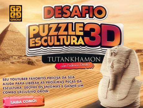 Concurso Cultural Grow Desafio Puzzle Escultura 3D