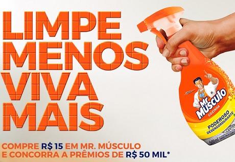 Promoção Mr. Músculo Limpe Menos Viva Mais