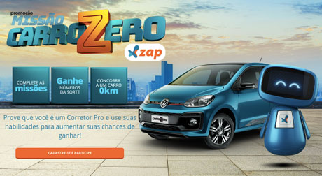 Promoção ZAP Missão Carro Zero