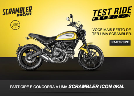 Promoção Test Ride Premiado Ducati