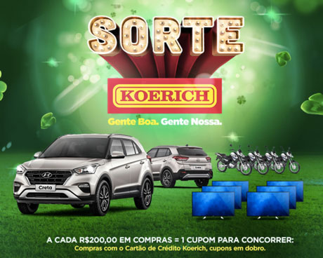 Promoção Sorte Koerich
