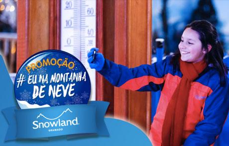 Promoção Snowland Eu Na Montanha de Neve