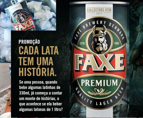 Promoção Faxe Cada Lata Tem Uma História