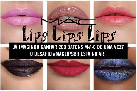 Promoção MAC Lips BR