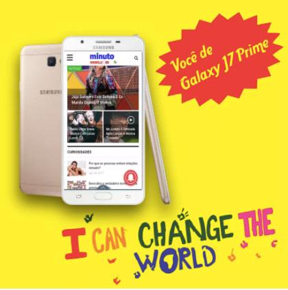 Concurso Cultural Minuto News Você de Galaxy J7 Prime