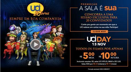 Promoção UCI Cinemas A Sala É Sua