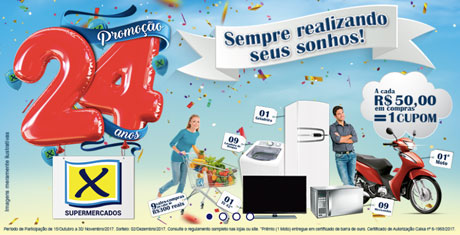 Promoção Aniversário 24 Anos X Supermercados