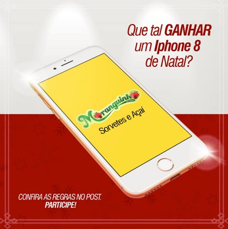 Promoção Que Tal Ganhar um Iphone 8 de Natal?