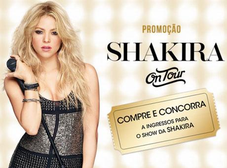 Promoção Shakira Fragrances On Tour