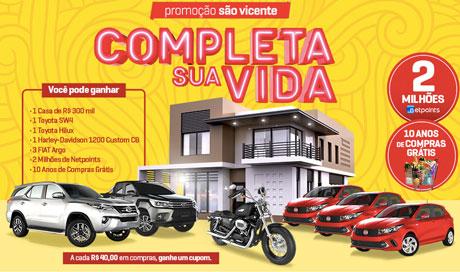 Promoção Supermercados São Vicente Completa Sua Vida