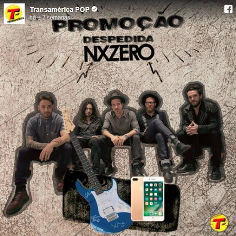 Promoção Rádio Transamérica Despedida NX Zero