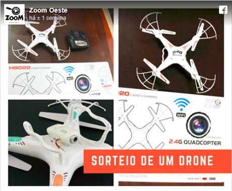 Promoção Portal Zoom Sorteio de um Drone